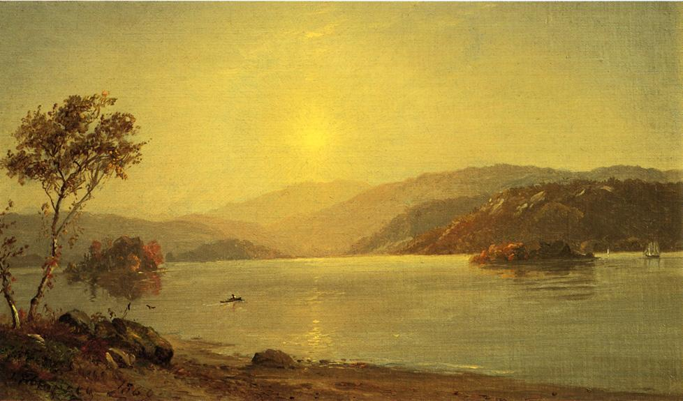 Autumn by the Lake 1 by Jasper Francis Cropsey (1823-1900, United States) | ArtsDot.com