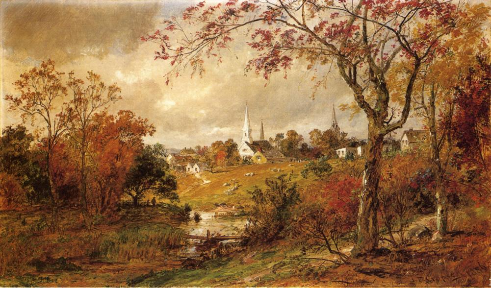 Autumn Landscape - Saugerties, New York by Jasper Francis Cropsey (1823-1900, United States)