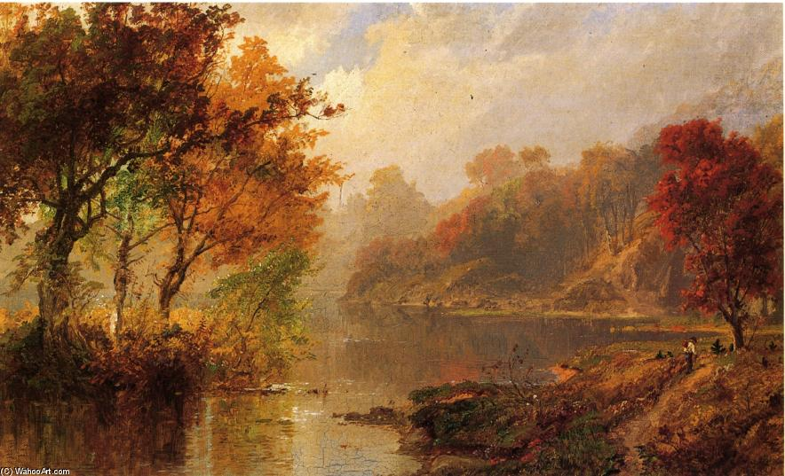 Autumn Landscape 1 by Jasper Francis Cropsey (1823-1900, United States)
