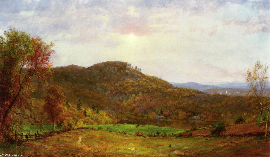 Autumn Landscape 5 by Jasper Francis Cropsey (1823-1900, United States)