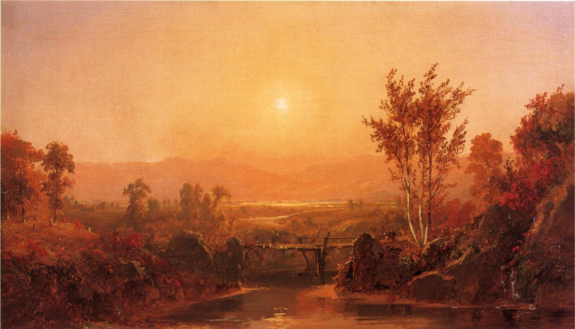 Autumn Light on the Ramapo River by Jasper Francis Cropsey (1823-1900, United States)