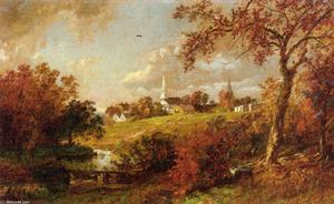 Jasper Francis Cropsey - Back of the Village, Hastings-on-Hudson, New York