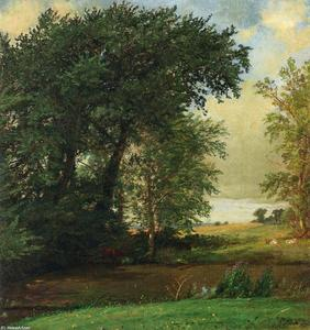 Jasper Francis Cropsey - Banks of the River