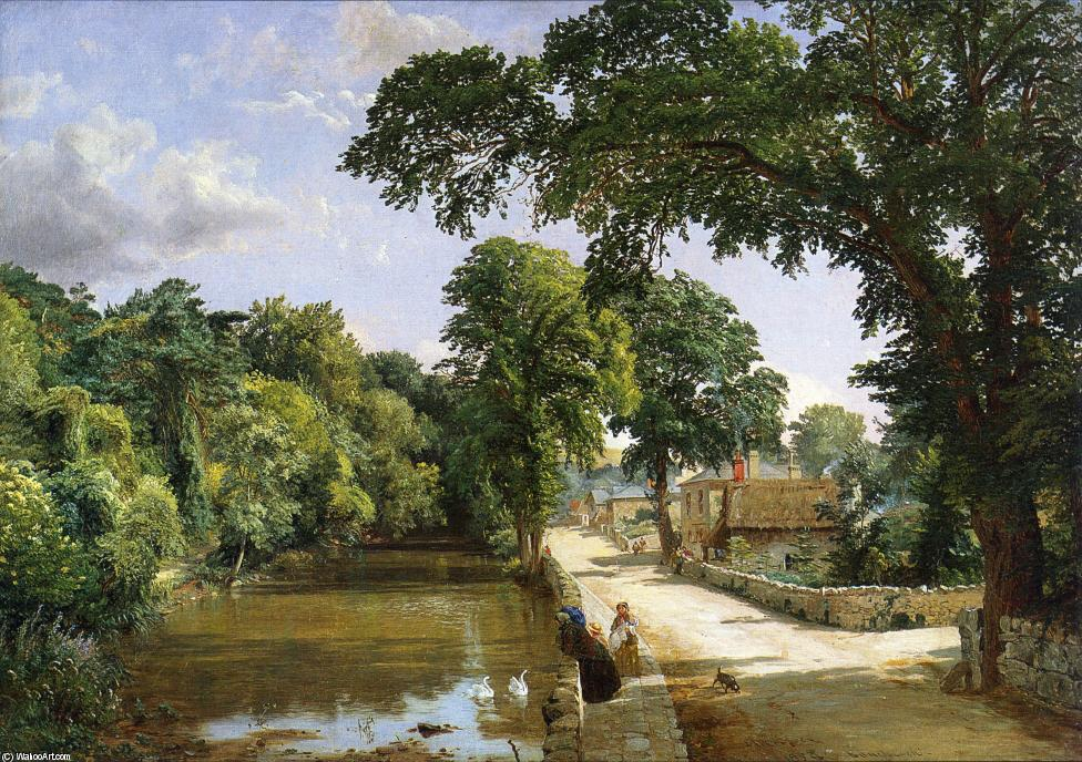 Bonchurch, Isle of Wight by Jasper Francis Cropsey (1823-1900, United States) | ArtsDot.com