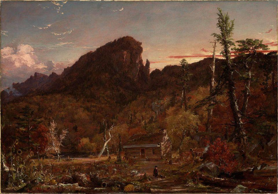 Eagle Cliff, New Hampshire by Jasper Francis Cropsey (1823-1900, United States)