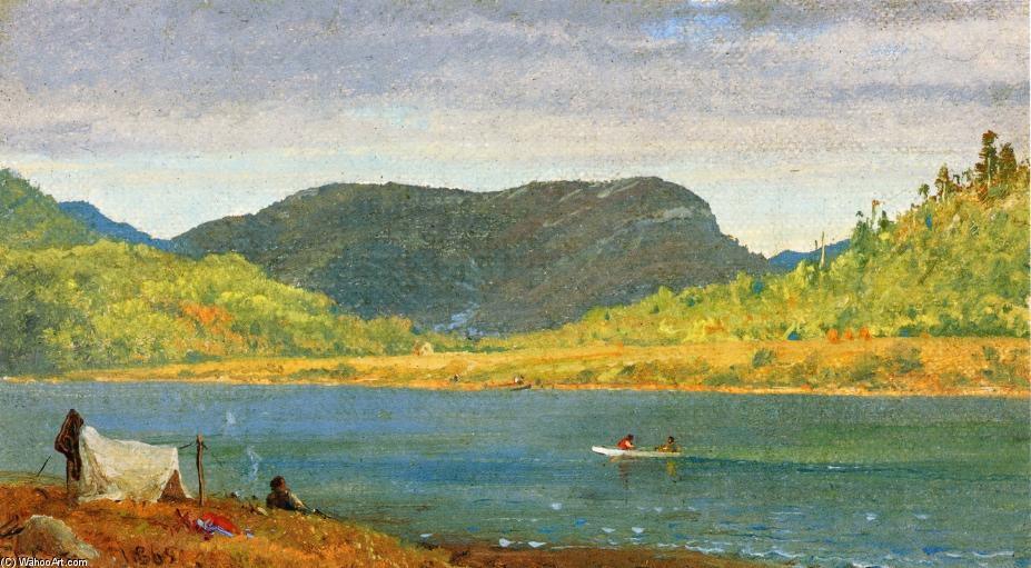 Greenwood Lake 1 by Jasper Francis Cropsey (1823-1900, United States)