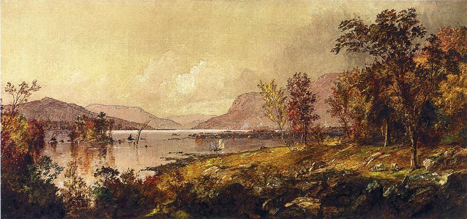 Greenwood Lake, New Jersey, in September, Oil On Canvas by Jasper Francis Cropsey (1823-1900, United States)