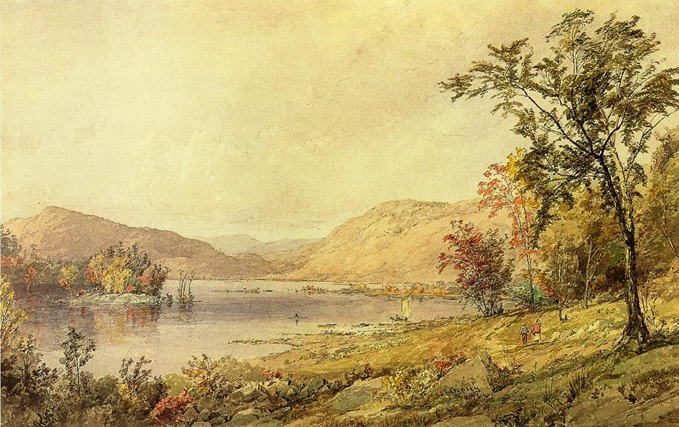 Order Museum Quality Reproductions : Greenwood Lake, New Jersey by Jasper Francis Cropsey (1823-1900, United States) | ArtsDot.com