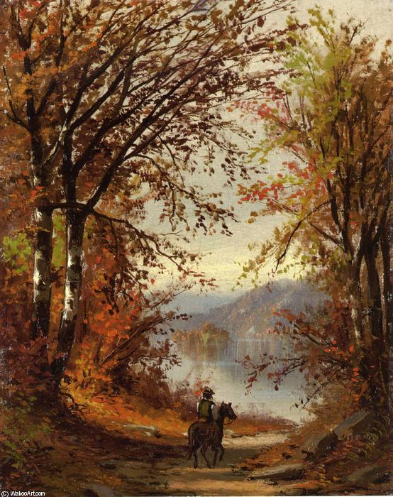 Landscape by Jasper Francis Cropsey (1823-1900, United States)