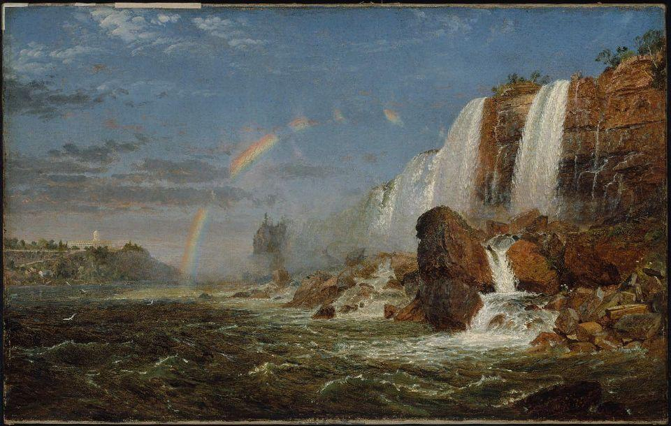 Niagara Falls from the Foot of Goat Island by Jasper Francis Cropsey (1823-1900, United States) | ArtsDot.com