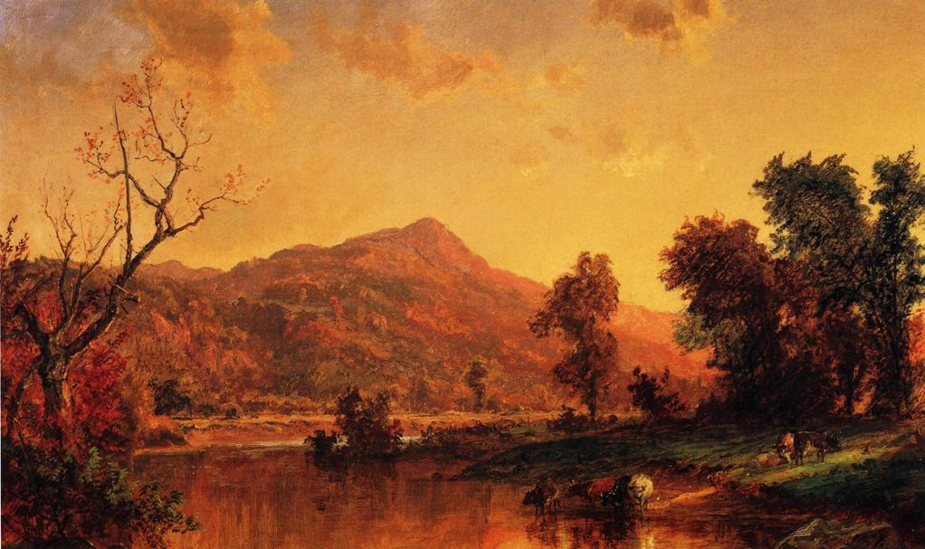 On the Susquehanna, Oil On Canvas by Jasper Francis Cropsey (1823-1900, United States)