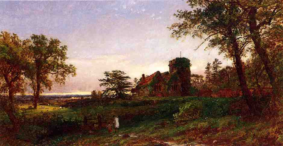 View of Stoke Poges, Oil On Canvas by Jasper Francis Cropsey (1823-1900, United States)