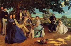 Jean Frederic Bazille - The Family Gathering