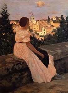 Jean Frederic Bazille - The Pink Dress