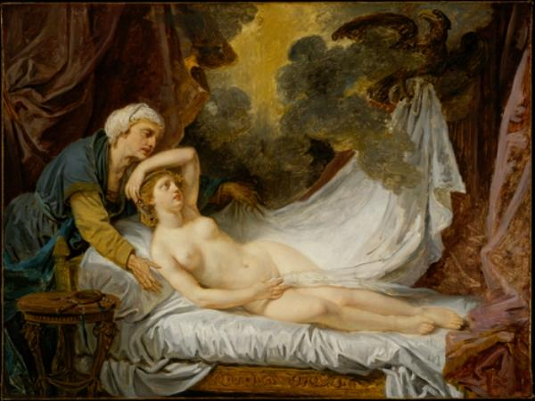 Aegina Visited by Jupiter by Jean-Baptiste Greuze (1725-1805, France) | Museum Art Reproductions | ArtsDot.com