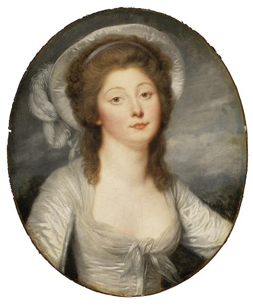 Portrait of a Young Woman, Called Mademoiselle Montredon by Jean-Baptiste Greuze (1725-1805, France) | ArtsDot.com