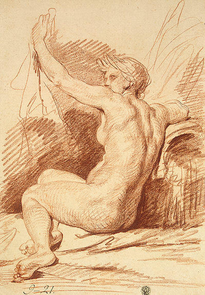 Study of a Nymph by Jean-Baptiste Greuze (1725-1805, France) | Museum Art Reproductions | ArtsDot.com