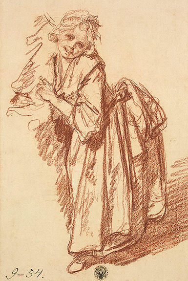 Order Art Reproduction : Study of a Standing Girl by Jean-Baptiste Greuze (1725-1805, France) | ArtsDot.com