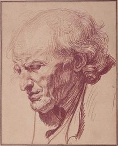 Jean-Baptiste Greuze - Study of the Head of an Old Man