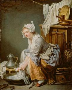 Jean-Baptiste Greuze - The Laundress