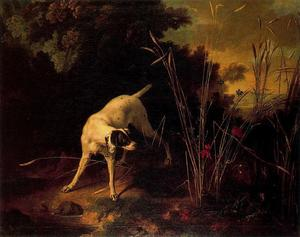Jean-Baptiste Oudry - A Dog on a Stand