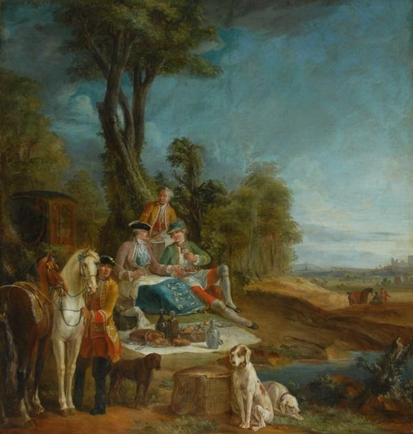 A Hunting Luncheon by Jean-Baptiste Oudry (1686-1755, France) | Museum Quality Reproductions | ArtsDot.com