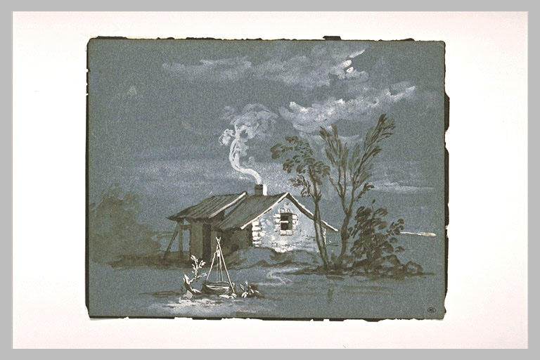 Cottage and sinks near a group of trees by Jean-Baptiste Oudry (1686-1755, France) | ArtsDot.com