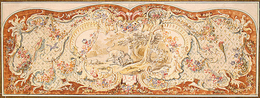 Design for the Upholstery of a Canape by Jean-Baptiste Oudry (1686-1755, France)