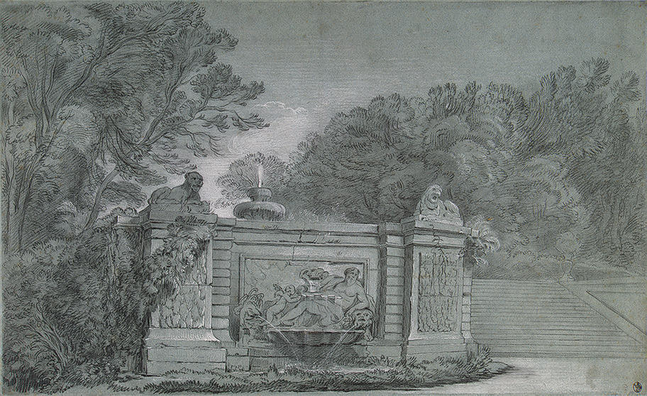 Fountain in a Park by Jean-Baptiste Oudry (1686-1755, France)