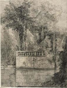 Jean-Baptiste Oudry - Lattice Work and Reflecting Pool at Arcueil