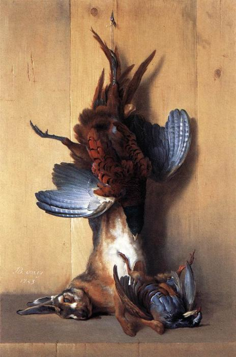 Still-life with Pheasant by Jean-Baptiste Oudry (1686-1755, France)