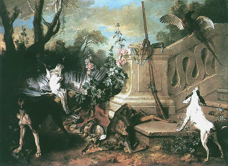 The Dead Roe by Jean-Baptiste Oudry (1686-1755, France) | Painting Copy | ArtsDot.com