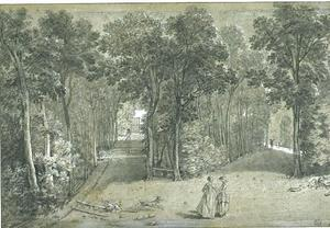 Jean-Baptiste Oudry - View of the Arcueil Park 1