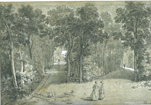 View of the Arcueil Park 1 by Jean-Baptiste Oudry (1686-1755, France) | ArtsDot.com