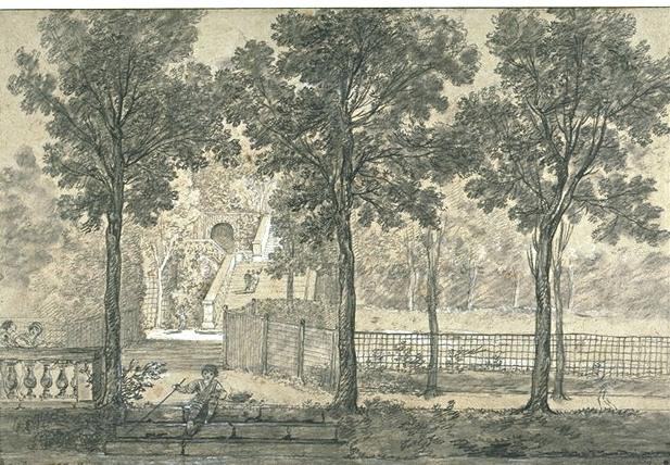 View of the Arcueil Park 2 by Jean-Baptiste Oudry (1686-1755, France)