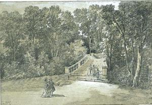 Jean-Baptiste Oudry - View of the Arcueil Park 3