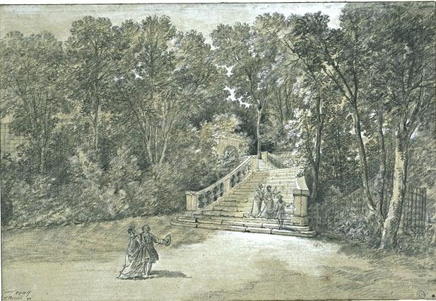 View of the Arcueil Park 3 by Jean-Baptiste Oudry (1686-1755, France)