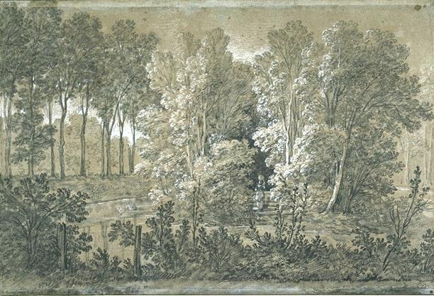View of the Arcueil Park by Jean-Baptiste Oudry (1686-1755, France) | Art Reproduction | ArtsDot.com