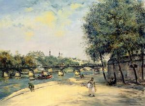 Jean-François Raffaelli - The Institute de France and the Pont des Arts, Paris