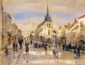 Jean-François Raffaelli - The Place Saint-Jean in Nemours