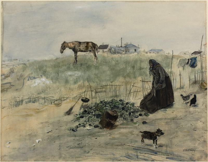 The Wasteland by Jean-François Raffaelli (1850-1924, France) | Oil Painting | ArtsDot.com