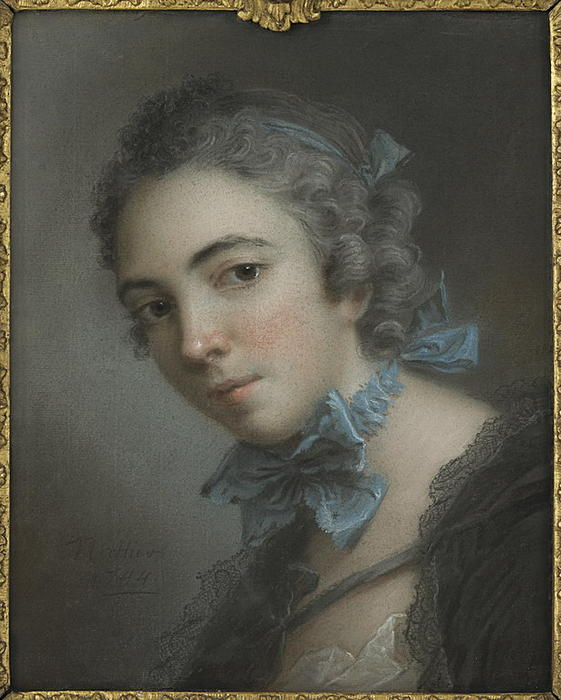 Bust of young woman by Jean-Marc Nattier (1685-1766, France)