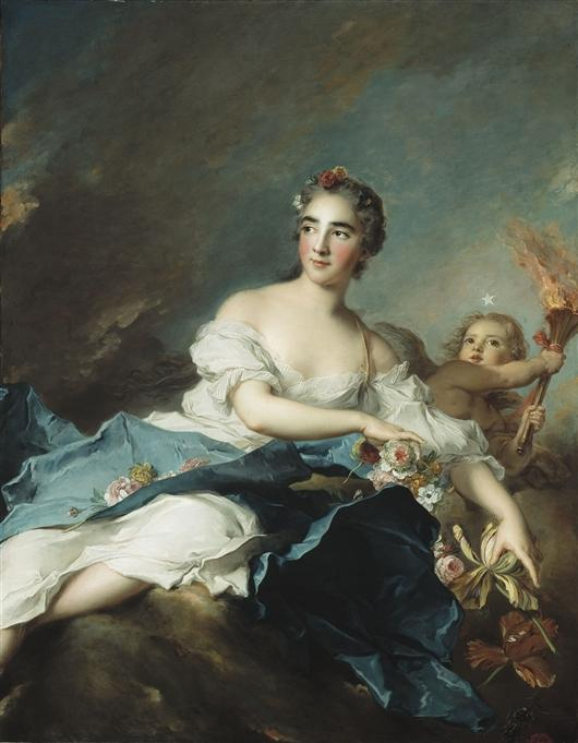 THE COUNTESS DE BRAC AS AURORA by Jean-Marc Nattier (1685-1766, France)