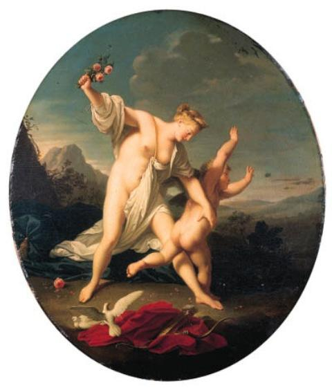 Venus chastising Cupid; and Venus and Cupid by Jean-Marc Nattier (1685-1766, France)