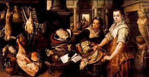Joachim Beuckelaer - Christ in the House of Martha and Mary 1