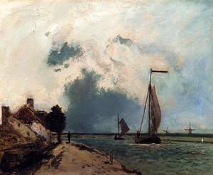 Johan Barthold Jongkind - Arriving in the port
