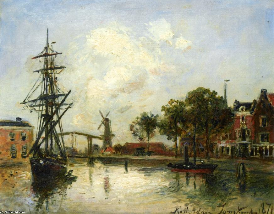 Entry to the Port, Rotterdam by Johan Barthold Jongkind (1819-1891, Netherlands)