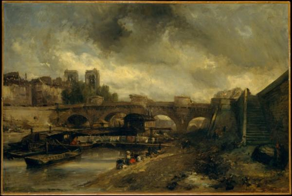 The Pont Neuf by Johan Barthold Jongkind (1819-1891, Netherlands)