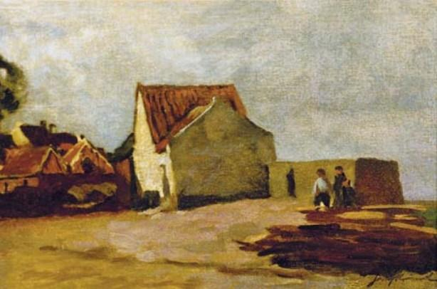 The Seaside Cottage by Johan Barthold Jongkind (1819-1891, Netherlands)