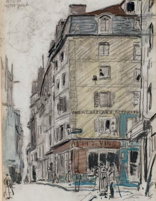 The street of Petit-Pont Saint-Séverin, Paris by Johan Barthold Jongkind (1819-1891, Netherlands)